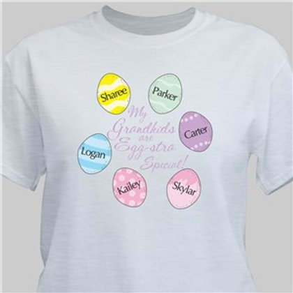Eggstra Special Personalized Easter Egg Shirt