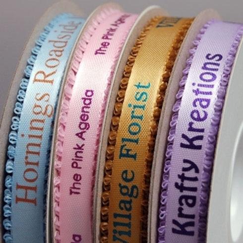 Personalized Satin Picot Edged Ribbon | Treasures Made Just Because