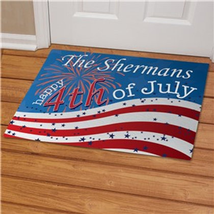 July 4th Personalized Doormat