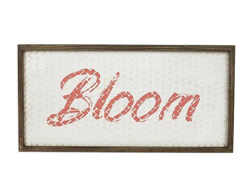 Framed Wall Art Woven Blossom Sign