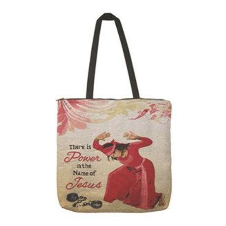 "Inspirational Ladies 24"" Woven Cotton Shoulder Tote Bag"