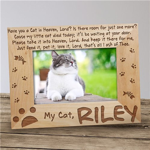 Have you got a Cat in Heaven Wood Photo Frame