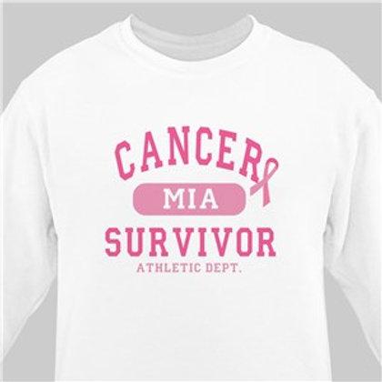 Cancer Survivor Athletic Dept. - Breast Cancer Awareness Sweatshirt