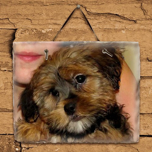 Personalized Dog Photo Slate Plaque