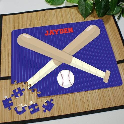 Baseball Personalized with a Name Jigsaw Puzzle