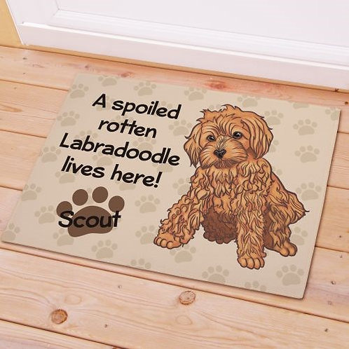 Spoiled Rotten Dog Breed Labrador Doormat Personalized