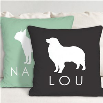 Dog Breed Personalized Throw Pillow