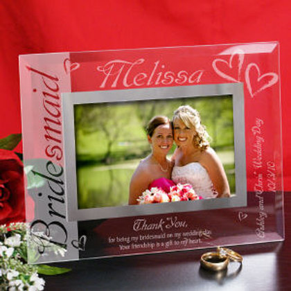 Bridesmaid Glass 4x6 Picture Frame