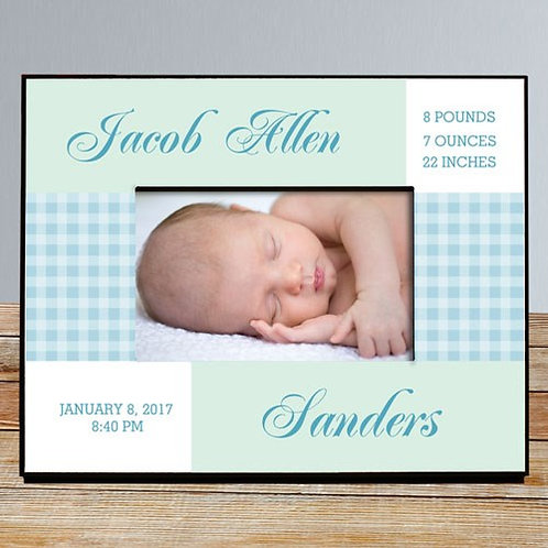 Baby Photo Frame Personalized with Birth Information