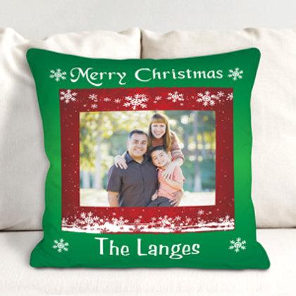 Custom Photo Christmas Throw Pillow