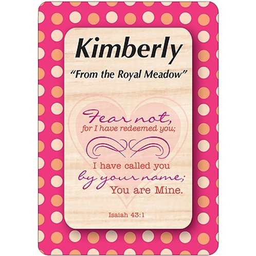 K - S Female Daydream Name Card with Bible Verse