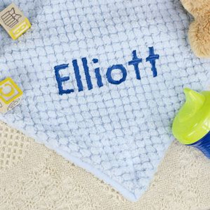 Personalized Blue Baby Boy Blanket
