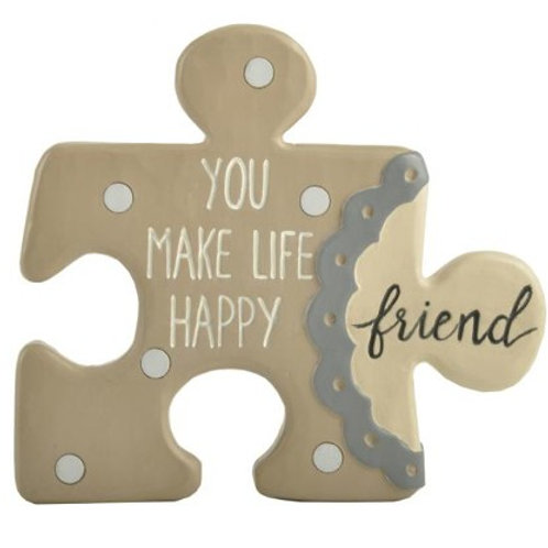 You Make My Life Happy Friend Puzzle Piece