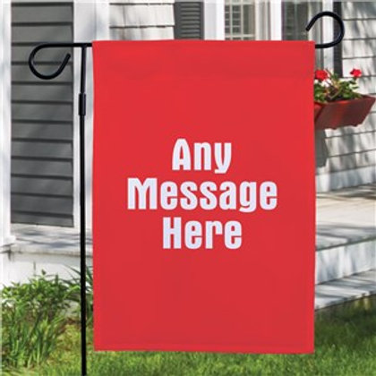 Any message Garden Flag