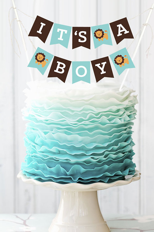 Personalized Baby Shower Cake Bunting