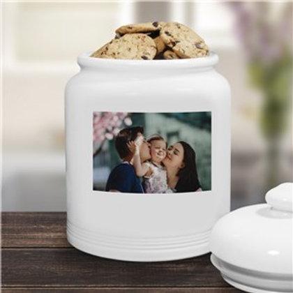 Ceramic Photo Cookie Jar