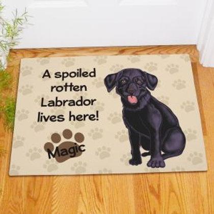 Black Lab Doormat