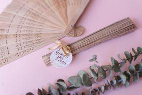 Abanico en madera para bodas