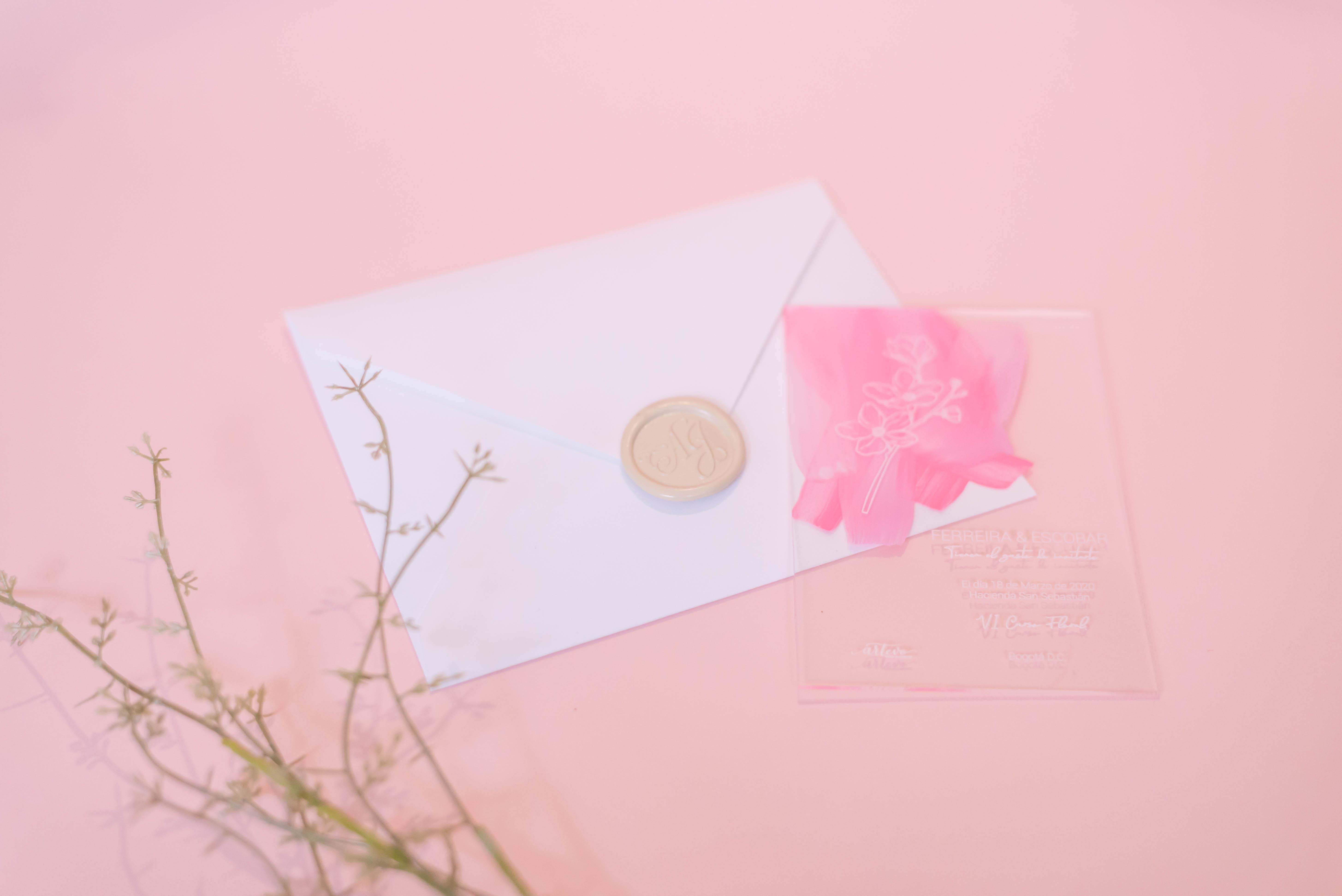 Invitación acrilica