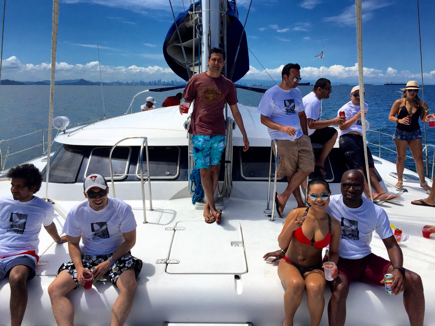 bachelor party on 57ft fountaine pajot catamaran rental in panama
