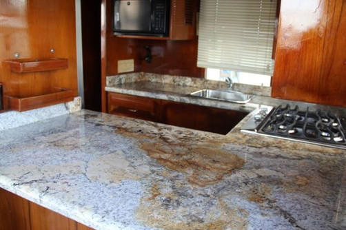 kitchen of 50ft defever for rental in panama
