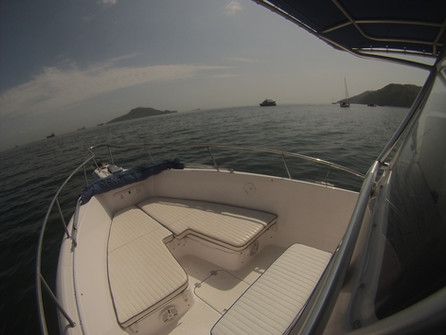 bow of 27ft proline for rental in panama