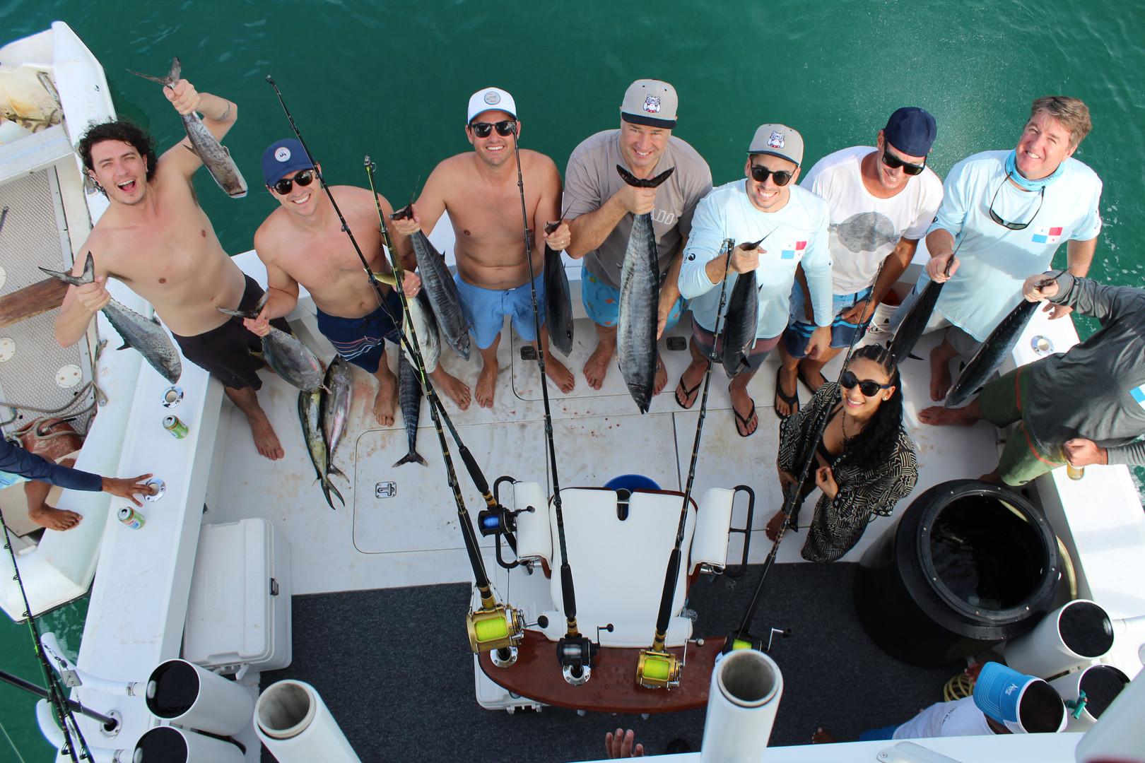 deep sea fishing trip to pearl islands panama