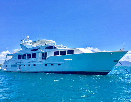 105ft broward yacht for charter in panama