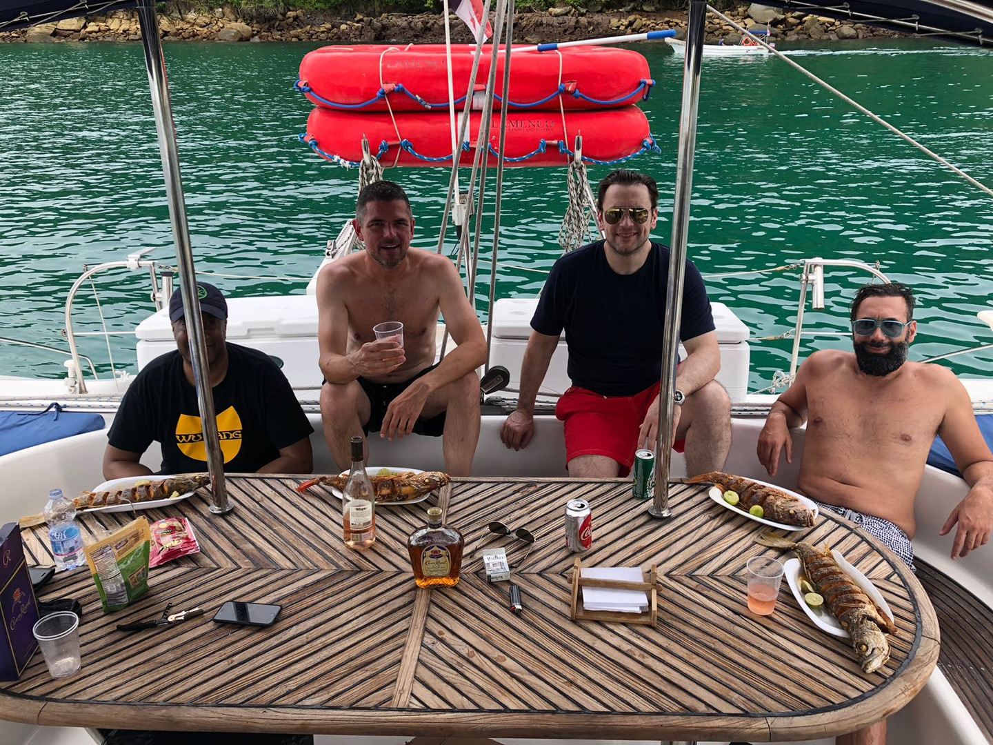 group party on 57ft fountaine pajot catamaran rental in panama