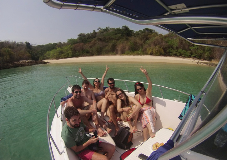 panama boat party on 27ft proline