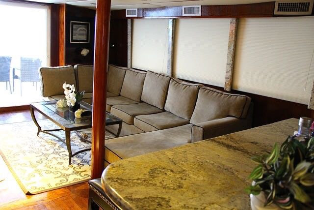 interior of 78ft rowley marine yacht charter in panama