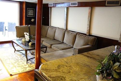 interior of 78ft rowley marine yacht charter in panama