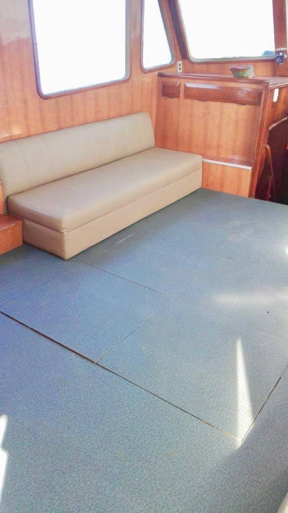 interior of 50ft defever for rental in panama