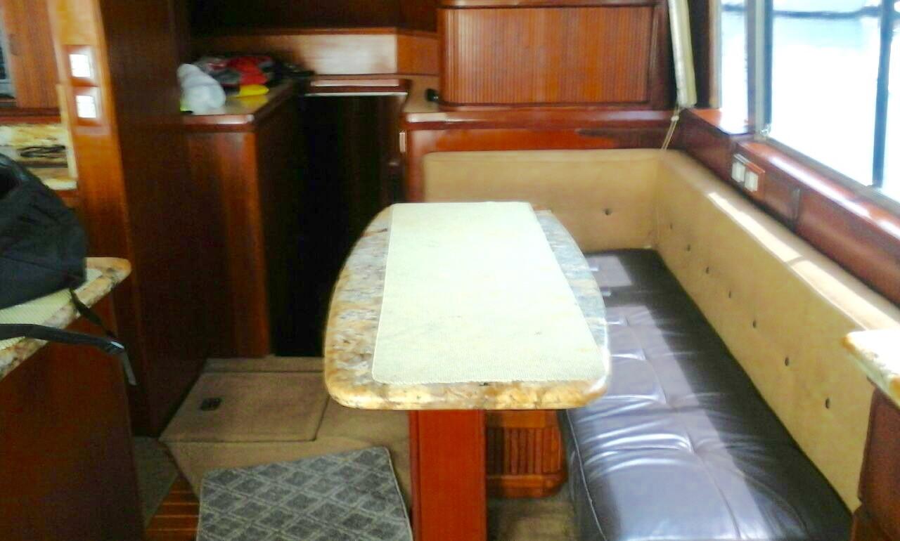 interior of 58ft bertram boat rental in panama