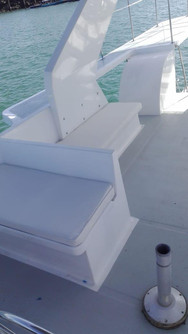 upper deck of 50ft defever for charter in panama