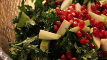 Kale Salad with Pomegranate and Apples