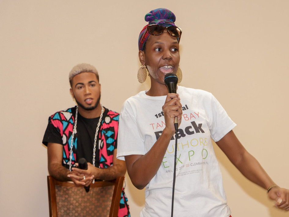 Larmani and TBBAE Host/Creator Tonisha Kimble