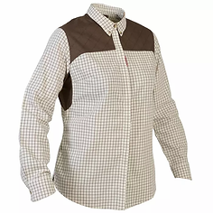 Camisa+Caza+Solognac+500+Mujer+Cuadros+B