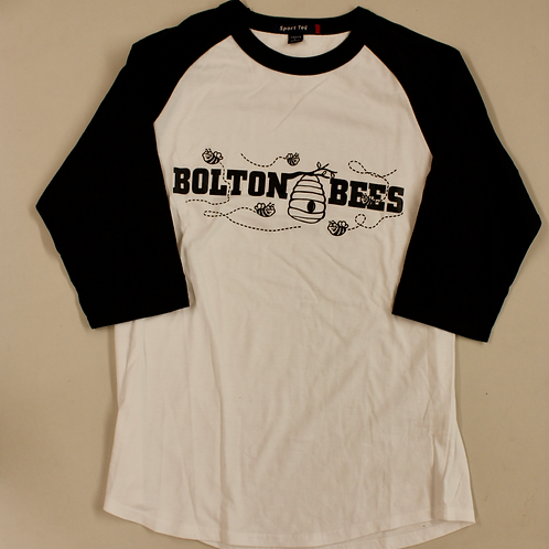 3/4 sleeve Bolton Bee logo