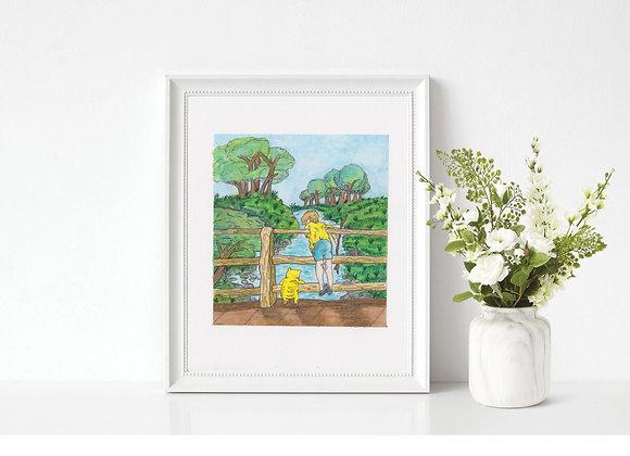 Winnie the Pooh Original Painting