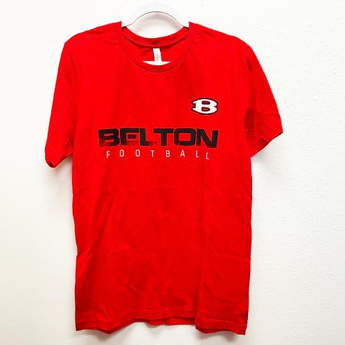 Red Belton Football Tee