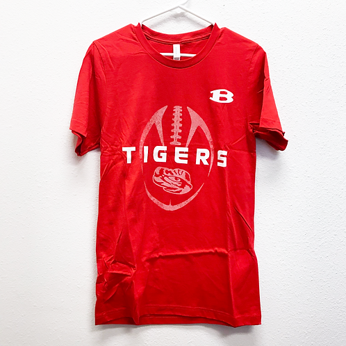 Red Belton Football Tee