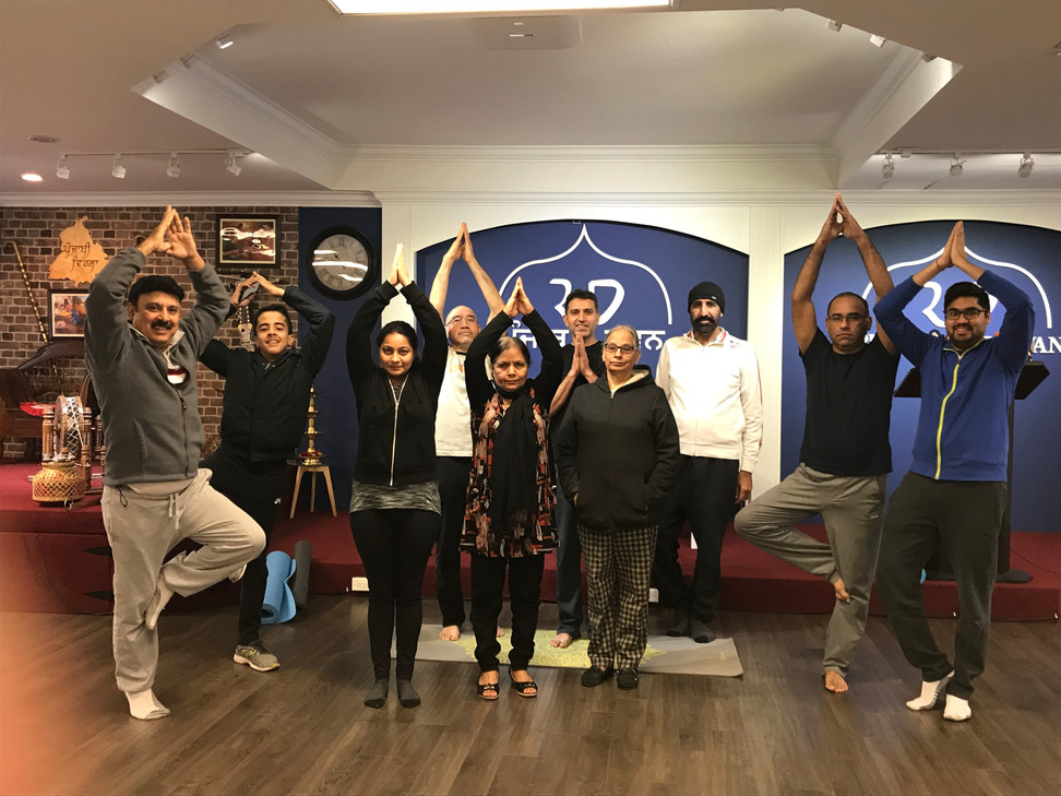 Yoga Class by Neeraj Kumar from ICA Vancouver