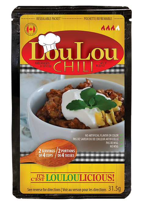 LoulouChili is a pre-measure blend, recipe included