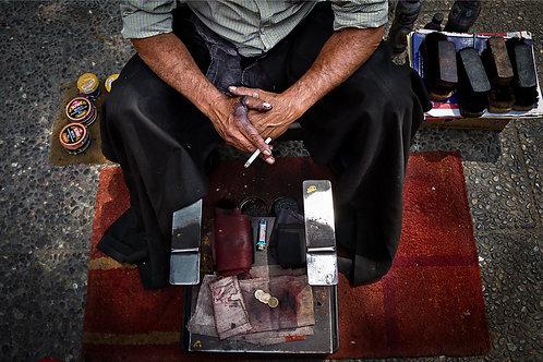 El lustrador de zapatos de la Plaza de Armas