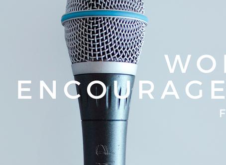 Worship Encouragement-  Developing a Worship Leader
