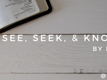 See, Seek, & Know Jesus