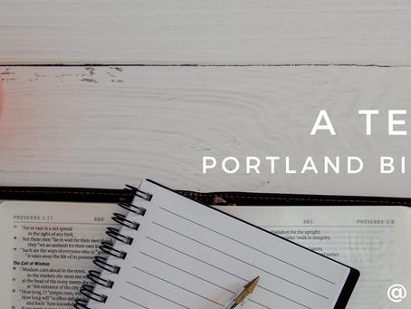 A Testimony: Portland Bible College