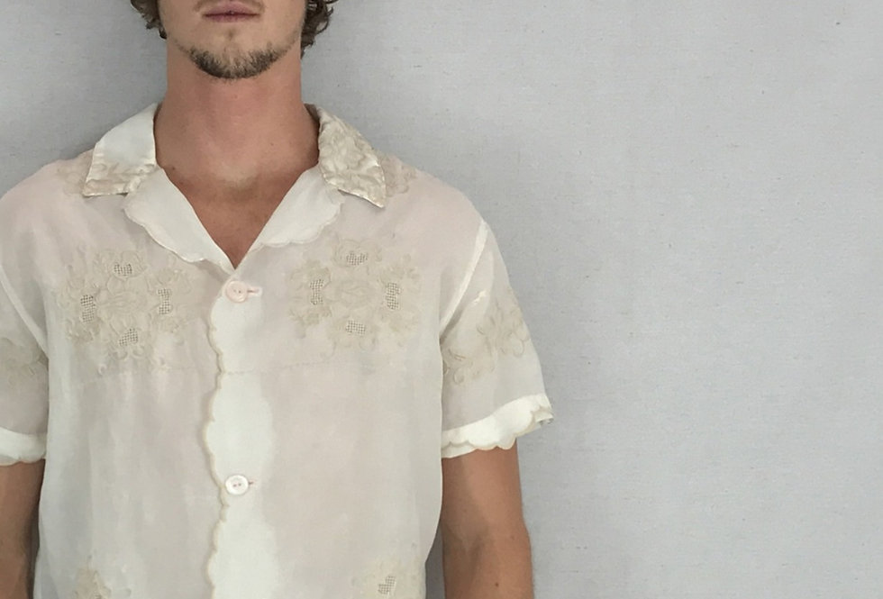 Complacent Sheer Embroidered Shirt
