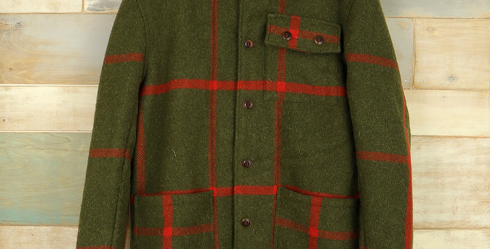 Woolrich Stadium Blanket Jacket